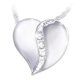 My Dear Granddaughter Diamond Pendant Necklace