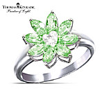 Thomas Kinkade Jewel Of The Garden Peridot And Diamond Womens Ring