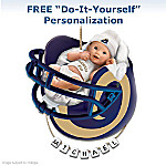 St. Louis Rams Personalized Baby's First Christmas Ornament