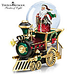 Thomas Kinkade Santa Claus Is Coming To Town Musical Snowglobe Train Car