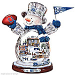 Indianapolis Colts Masterpiece Edition Crystal Snowman Figurine
