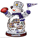 Minnesota Vikings Masterpiece Edition Crystal Snowman Figurine