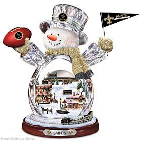 New Orleans Saints Snowman Figurine