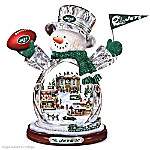 New York Jets Masterpiece Edition Crystal Snowman Figurine