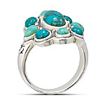Pieces Of Heaven Sterling Silver And Genuine Turquoise Ring turquoise ring