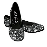 Elvis Toe-Tapping' Ballet Flats Fashionable Shoes