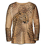 In The Spot-Light Women's Shirt With Leopard Artwork