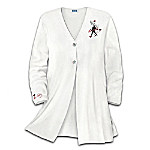 Rocking' With Elvis Embroidered Women's Sweater
