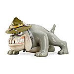 Bulldog USMC Mascot Sculptural Table Lamp