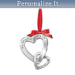 My Daughter, My Joy Personalized Heart-Shaped Birthstone Ornament