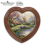 Thomas Kinkade Home Sweet Home Heart-Shaped Framed Wall Decor