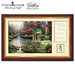 Thomas Kinkade Serenity Prayer Framed Canvas Print Wall Decor