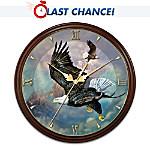 Eagles Triumph Masterpiece Wall Clock