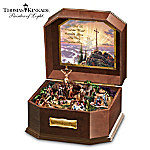 Thomas Kinkade Visions Of Christ Wooden Music Box