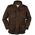 Northwoods Terrain Men's Cotton Twill Jacket With Deer Imagery