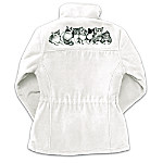 Purr-fect Playmates Reversible Womens Fleece Jacket