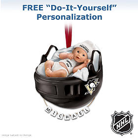 Pittsburgh Penguins® Personalized Baby's First Ornament
