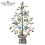 Thomas Kinkade Easter Blessings Heirloom Porcelain Egg Tabletop Tree