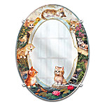 "Jurgen Scholz ""Purr-fect Reflections"" Kitten Mirror Wall Decor For Cat Lovers"