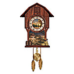 Terry Redlin Harvest Moon Ball Cuckoo Clock