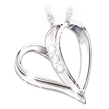 My Daughter, My Heart, My Love 3-Diamond Pendant Necklace ...