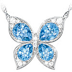 Wings Of Beauty Color-Changing Butterfly Pendant Necklace