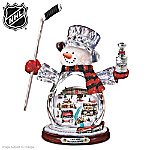 NHL® Chicago Blackhawks® Crystal Snowman Figurine