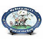 My Dad Is The #1 King Of The Grill Porcelain Platter: Gift For Dad