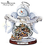 Thomas Kinkade SnO Holy Night Crystal Snow Angel Sculpture With Light, Music And Motion