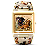 Pomeranian Lover's Cuff Watch for Women
