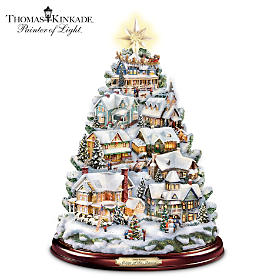 Thomas Kinkade Songs Of The Season Tabletop Tree