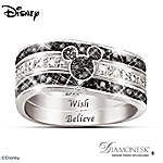 The Mickey Hidden Message Engraved Womens Three Band Ring