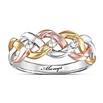 Strength Of Our Faith - Three-Cord Tri-Color Diamond Ring