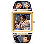 Elvis Presley Art Cuff Watch The King Of Rock 'N' Roll