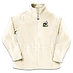 Panda Art Womens Fleece Jacket