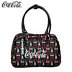 Coca-Cola Purse With Classic Vintage Green-Glass Coke Bottle Art