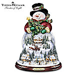Thomas Kinkade Wondrous Winter Musical Snowman Snowglobe