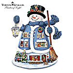 "Thomas Kinkade ""The Night Before Christmas"" Storytelling Snowman Figurine"