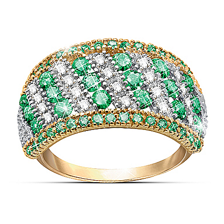 Rare Beauty - Emerald And Diamond Eternity Ring