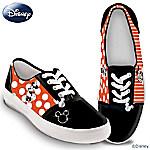 Disney Retro Mickey & Minnie Womens Canvas Shoes