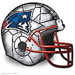Officially Licensed New England Patriots Stained-Glass Design Helmet Accent Lamp