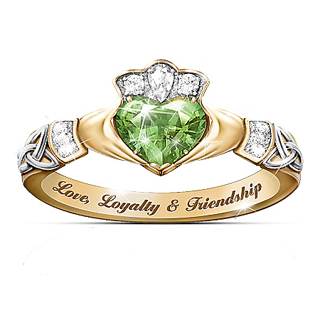 Love, Loyalty & Friendship Reflections Of Ireland Color-Changing Claddagh Ring