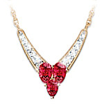 "The ""Enduring Love"" Garnet And Diamond Necklace: Romantic Jewelry Gift Romantic Anniversary Gifts"