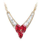 Enduring Love Garnet And Diamond Necklace