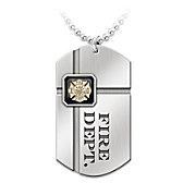 For My Firefighter Pendant Necklace