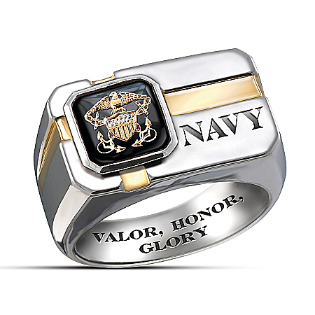 U.S. Navy Men's Ring: For My Sailor