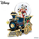 Musical Snow Globes Disney Mickey Mouse Miniature Snowglobe: Santa Mouse Is Comin' To Town