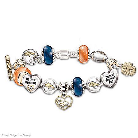 Denver Broncos NFL Football Women's Charm Bracelet