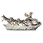 Wolf Art Illuminated Christmas Decor Sculpture