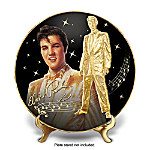 Solid Gold Elvis Heirloom Porcelain Collector Plate